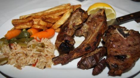 Lamb shop, mitt favorittmåltid når jeg er på Kreta.