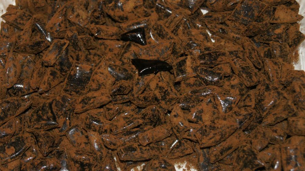 Drops med salmiakksmak (Ulvehyl).