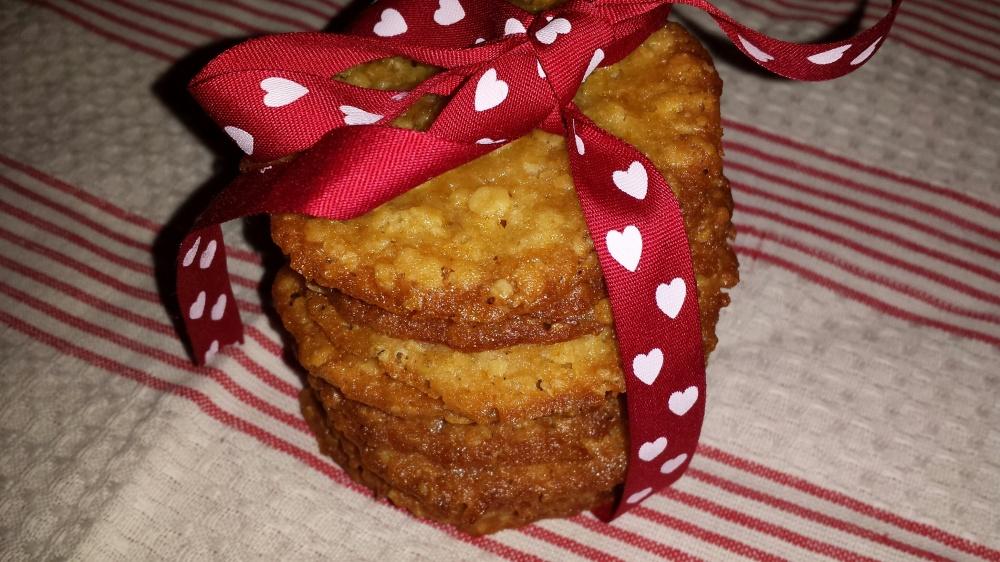 Sprø og kjempegode knekk-kaker med en smak av karamell.
