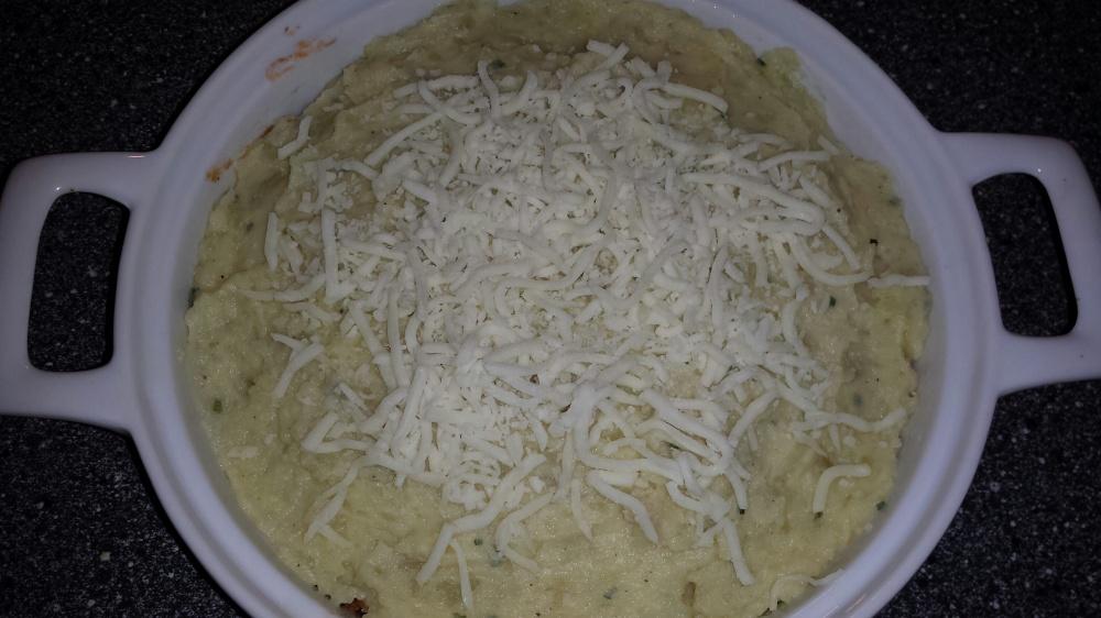Sheperd`s pai klar for å settes i ovn.