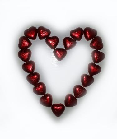 Søte sjokoladehjerter hører med på alle hjerters dag :-) Happy Valentine!