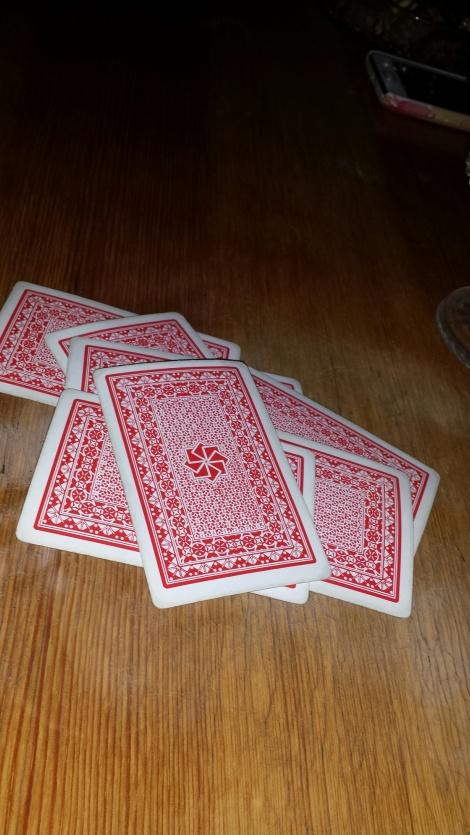 Med mye dårlig vær ble det en hel del kortspill i påsken.