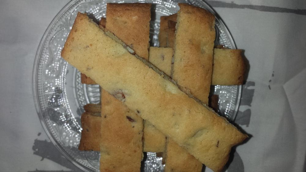 Deilige biscotti med anis og mandler.